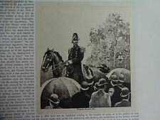 """Great B/W Print - """"Brigadier General, 1890"""" by William Walton, 1890 by G.B."""