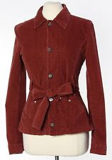 Dolce & Gabbana Women's Jacket XS Red Corduroy Belted