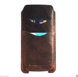genuine leather hard Case fo apple iphone 6 book wallet handmade slim cover 4.7