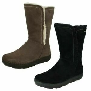 Ladies Clarks Casual Boots - Nelia Net GTX