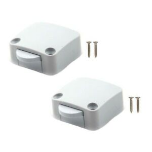 2X Pantry Switch for Cupboard Cabinet Door Light Closet White Electrical Tobin