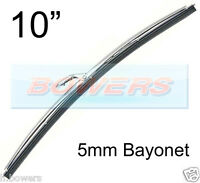 "10"" INCH STAINLESS STEEL NOT CHROME CLASSIC CAR WIPER BLADE 5mm BAYONET FITTING"