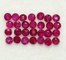 1.06 Cts Natural Ruby Round Cut 1.75 mm Lot 29 Pcs Calibrated Loose Gemstones