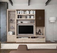 Parete attrezzata mobile TV sala da pranzo Marrone e Rovere salotto soggiorno