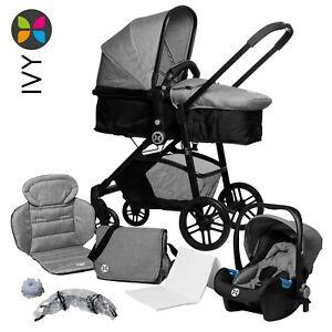 Babyblume Kombi-Kinderwagen IVY 3 in 1: Babyschale, Sportwagen, Babyschale