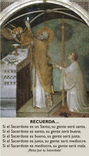 SPANISH PRAYER FOR PRIESTS PRAYER CARD (wallet size)