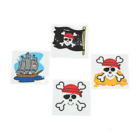 PIRATE PARTY FAVOUR Pirates Tattoos Temporary Kids Tattoo Pk of 36 Free Postage