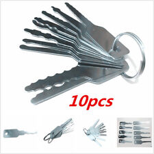 10 Pcs Universal Car Auto Lock Out Emergency Keys Unlock Door Open Tool Kit