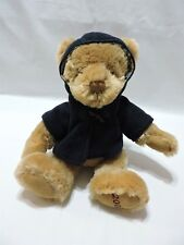 "Burberry Teddy Bear Tan 12"" Plush Stuffed Animal Nova Check 2009 Blue Coat"