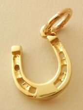 SOLID 9ct Yellow Gold HORSESHOE GOOD LUCK Charm Pendant