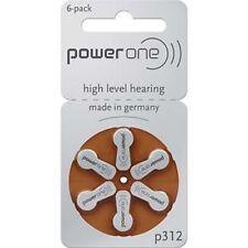 Hearing Aid Battery powerone P312 P 312 Fresh Stock 6 X 2 Pack Exp :03/2021