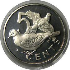 elf British Virgin Islands 5 Cents 1975 Proof Dove  Bird