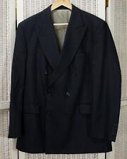 """AQUASCUTUM Uomo Giacca Blu 42 S 44"""" sul petto a Doppio Petto Lana Blazer Suit cappotto"""