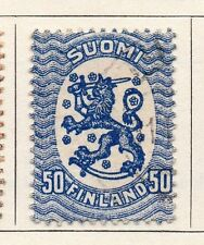 Finland 1918 Early Issue Fine Used 50p. 119676