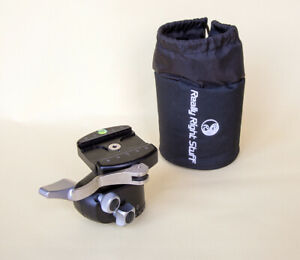 Really Right Stuff RRS BH40 ballhead with quick release lever and carry pouch