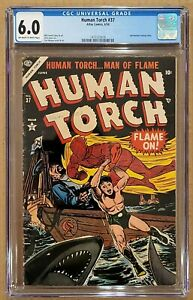 Human Torch #37 CGC 6.0 Sub-Mariner appearance Atlas 1954 FN