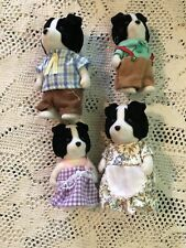 Calico Critters Sylvanian Families Retired Fletcher Border Collie Dog Family