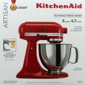 NOB KitchenAid Artisan Series 5 Qt Tilt-Head Stand Mixer - Empire Red KSM150PSER