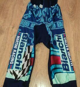 Bianchi Martini Racing SMS Santini RARE vintage cycling bib tights pants size L