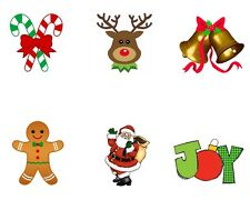 Christmas Holiday Winter Edible Party Image Cupcake Topper Frosting Circles