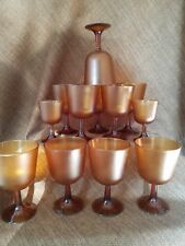 10 Restaurant Large Amber Plastic Stemmed water Cup Dishwasher Safe 2 small