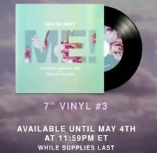 """Taylor Swift ME! 7"""" VINYL #3 Limited Edition RARE Sold Out"""