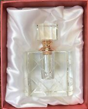 "NEW OLEG CASSINI Crystal Perfume Bottle ~ Crystal Top in Rose Tone LARGE 4"" Tall"