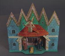 Grulich Krippengebäude, Stall mit Jesus, Maria, Josef, Engel   (# 11498)