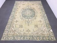 FREE SHIPPING! Oushak Rug 6.4x10ft Muted Color Rug Distressed Rug Overdyed Rug