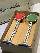 RARE en Boîte - Une paire SIGNAL DISQUE SERIE HORNBY - Testé - Lampes OK