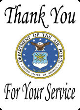 """US Air Force Thank You For Your Service 8x10"""" Cotton Quilting Block Panel"""