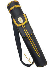 HAND MADE MILD BLACK LEATHER BACK ARROW QUIVER ARCHERY PRODUCTS AQ-155.