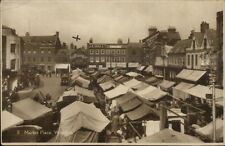 Wisbech Uk Market Place Real Photo Postcard