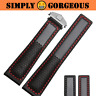 GRAIL 22mm Leather Watch Band Strap w/Logo for TAG Heuer Carrera Aquaracer (New)