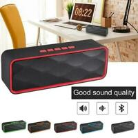 1* Wireless Bluetooth Speaker Subwoofer Bass Stereo Loudspeakers Portable L3J3