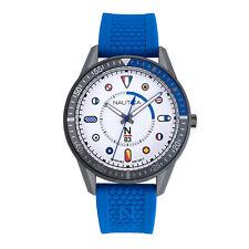 Nautica Men's Surf Park NAPSPS903 Blue Silicone Quartz Fashion Watch