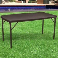Tavolo da pranzo Pieghevole Arredo esterno Giardino in Polyrattan Coffee 152x84