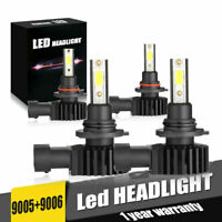 combo 9005+9006 LED Headlight Kit 6000K 144W 320000LM High+Low Beam Headlamp US