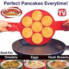 Flipping Fantastic Non Stick Pancake Maker Silicone Mold Egg Omelette Ring NEW