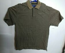 Callaway Golf Polo Short Sheeve extra Large brown black striped men's Xl