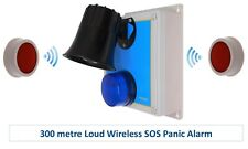300 Metre Wireless 'S' Range Loud 118 Decibel Panic & Lockdown Alarm
