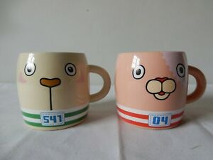 Pair of Small Mugs (Pokemon?) 04 & 541 MTV Networks 2010  Excellent