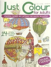 JUST COLOUR FOR ADULTS RELAXING THERAPY ART COLOURING BOOK STRESS RELIEVING No.3