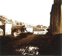 Auvergne Vecchio Pont Francia Foto Stereo PL58L12n9 Placca Da Lente c1920
