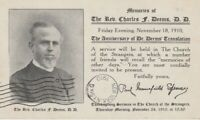 Postcard Memorial Private Mailing Card Rev Charles Deems Church of the Strangers
