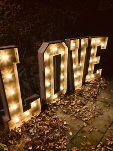 Light Up Large 4ft Rustic Love Letters HIRE DEPOSIT Wiltshire