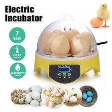Digital Clear 7-Egg Mini Incubator Chicken Duck Geese Bird Turning Hatcher