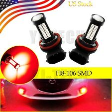 2x Super Red H11 H8 Auto LED Bulbs For Car Truck Fog Lights Lamp 106SMD