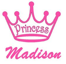 Personalized Princess Crown Vinyl Decal Silhouette Stickers Glass Metal Plastic