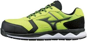 MIZUNO WORKING Safety Shoes Almighty WIDE HW11L F1GA2000 Yellow x Black Japan